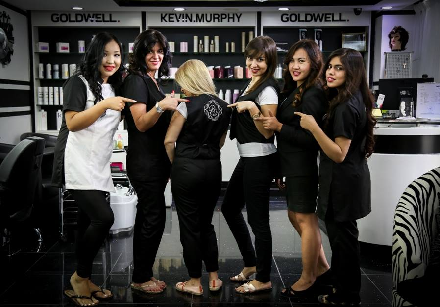 Black and White Salon Dubai JLT team picture