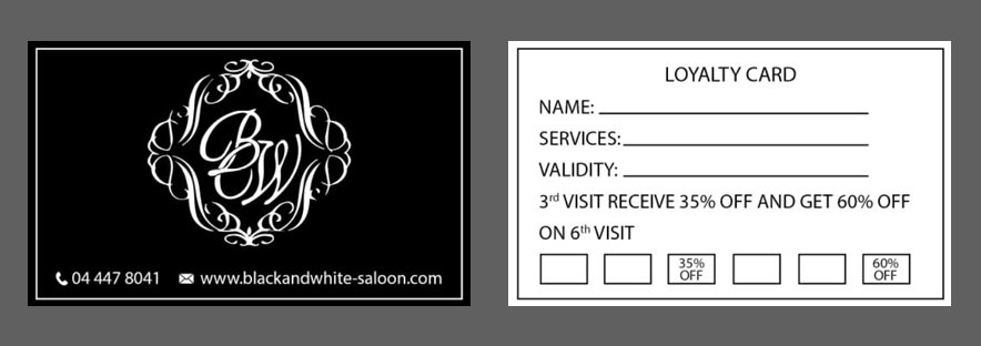 Black and White Salon Dubai JLT Gift Card