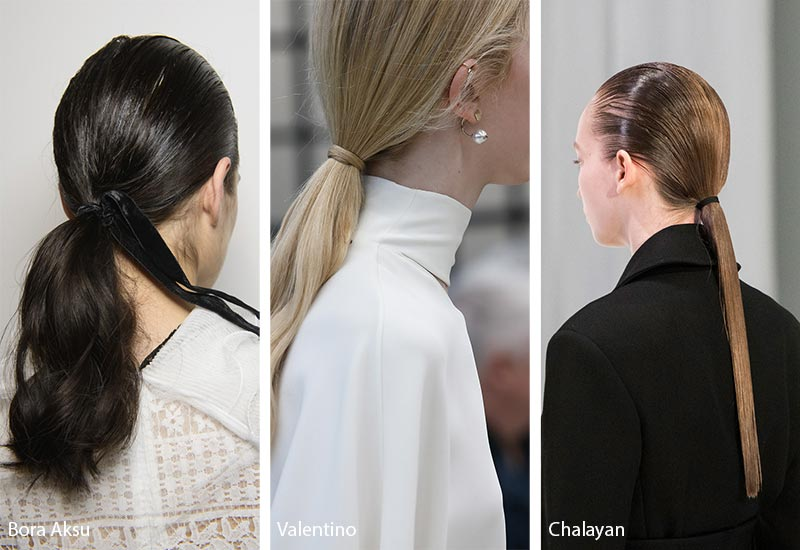 Black-and-White-Salon-Dubai-Blog-Hair-Style-Trends-Center-Slicked-Ponytails